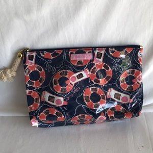 Lilly Pulitzer nautical PVC make up bag